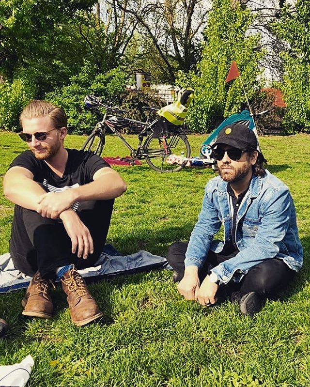 Lovely, sunny interview in Berlin. Can't wait to be back May 7 at @lidoberlin with @steamingsatellites @cloudshillmusic